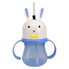 bunny straw sippy cup.
