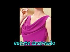 COMO HACER BLUSA ESCOTE DRAPEADO (HAMACA, TRAPECIO) drapeed escrow blouse hammock columpio - YouTube Cowl Neck Top, Fashion Sewing, I Dress, Blouse, Pattern, How To Make, Accessories, Clothes, Tops