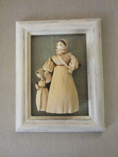 Shabby Cornhusk doll on burlap picture I made