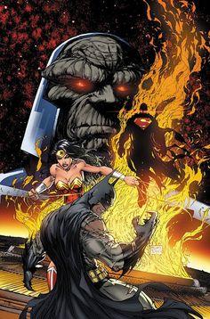 Darkseid vs DC Trinity by Michael Turner