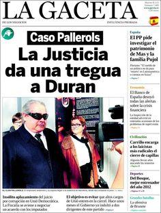 Titulares y Portada del 8 de Enero de 2013 del Periodico La Gaceta¿Que te parecio este día?