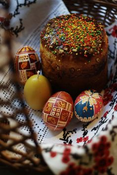 Paska and pysanky,Ukraine, from Iryna with love