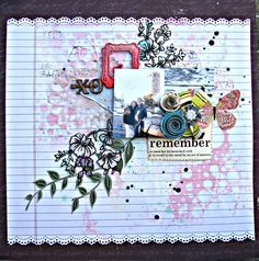 A misty layout by Thandar - Scrapbook.com