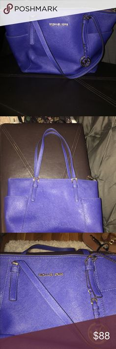 a40552a92253 Michael Kors tote bag Great condition. Royal blue color. Few minor ink  stains on