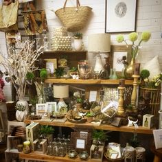 Gold, copper and rustic naturals. One of our new shop display at Lavish Abode, Lilydale, Vic.