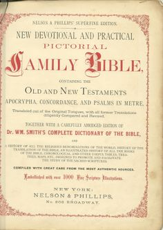 1870's Holy Bible