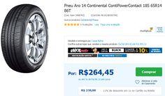 Pneu Aro 14 Continental ContiPowerContact 185 65R14 86T << R$ 23800 em 10 vezes >>