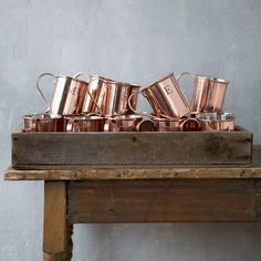 Monogrammed Copper Mug in House + Home Drinkware at Terrain