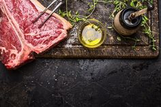 T-bone steak for grill or frying by VICUSCHKA on @creativemarket