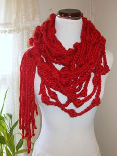 knot strand rope crochet scarf // $45