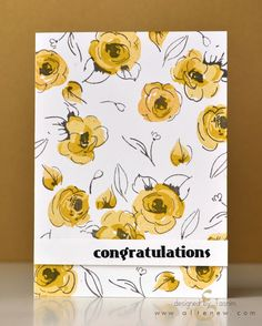 """Achieve a painted look with this simple multi-layer stamp set. The set has four unique layered flowers, two layered leaves, and four sketched leaves and flower buds. This is a 4"""" x 6"""" clear stamp set"""