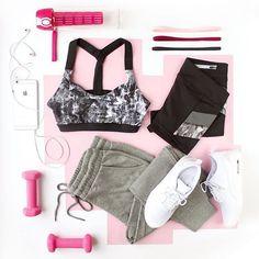 I eat a lot of macarons, so I better hit the gym!  #getfit #workout #getmysweaton #flatlay #flatlayapp #flatlays www.theflatlay.com