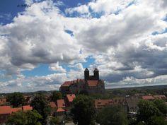 Quedlinburg Castle viewed from Muentzberg.