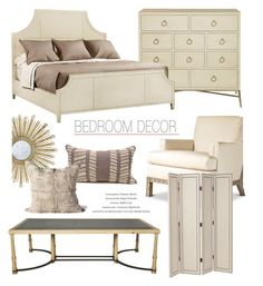 """""""Bedroom Decor"""" by kathykuohome ❤ liked on Polyvore featuring interior, interiors, interior design, hogar, home decor, interior decorating, Giles, bedroom, Home y homedecor"""