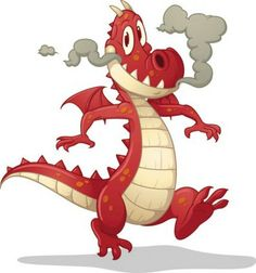 Cartoon Dragon Image Vector 4