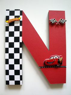 Disney Cars Wall Letters 3D Custom Wall Letters Boys Room