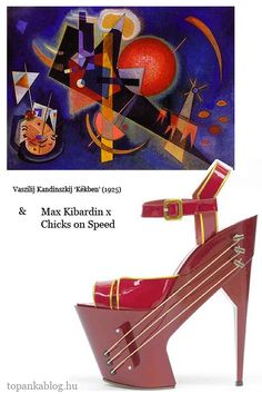 Painting by Wassily Kandinsky, shoes by Max Kibardin x Chicks on Speed