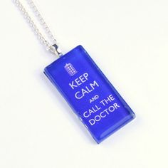 Doctor Who Necklace Keep Calm Call the Doctor Who jewelry, Dr Who Jewellery Silver Pendant, Keep Calm Dr Who Jewellery. $18.95, via Etsy.