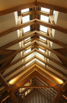 Beautiful detailing allowing in light from the ridge. By Roderick James Architects.