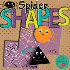 Spider Shapes. Great Math center for Halloween.