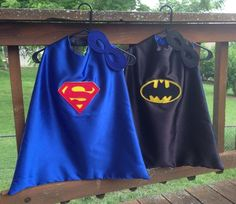 Superhero Cape Batman/Superman Reversible Super Hero Cape with Reversible Mask on Etsy, $39.30 CAD