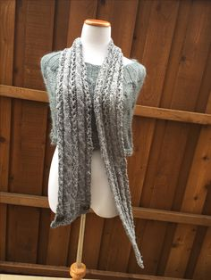 Malley scarf.... Unisex cables and eyelets~ Knit kits or single pattern.