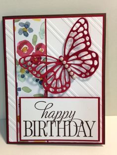A Happy Birthday, Everyone Butterfly Card My Creative Corner!: A Happy Birthday, Everyone Butterfly Card Birthday Cards For Women, Handmade Birthday Cards, Happy Birthday Cards, Greeting Cards Handmade, Female Birthday Cards, Butterfly Cards Handmade, Card Birthday, Borboleta Diy, Butterfly Birthday Cards