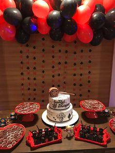 Harley Quinn birthday party decor / Decoração Festa de aniversário da Arlequina Mary Birthday, Girl Birthday Themes, Halloween Birthday, 13th Birthday, Birthday Party Decorations, Party Themes, Birthday Parties, Party Ideas, Birthday Ideas