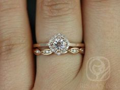 Kyla 5mm & Ember 14kt Rose Gold Morganite and door RosadosBox