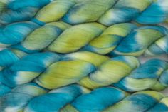 Handpainted Polwarth Wool Roving in Kelp Forest by by blarneyyarn, $11.00