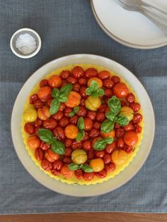 polenta and cherry tomatoes