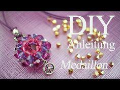 Videoanleitung mit Swarovski-Kristallen ein Medaillon fädeln - YouTube
