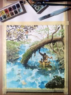 Ballad Singer: The River   water paint