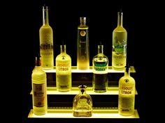 2 Foot 3 Tier LED Liquor Shelf