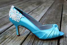 "Lace Wedding shoes- Low heel 2.5"" heel - Armoire"