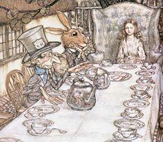 """""""Alice no País das Maravilhas"""". Arthur  Rackham    Veredas da Língua: Texto - """"Para Maria da Graça"""" - Paulo Mendes Campos"""