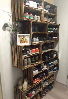 Crate shoe storage