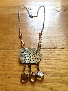 Sea shell smoky quartz necklace by LincolnStreetDesign on Etsy, $50.00