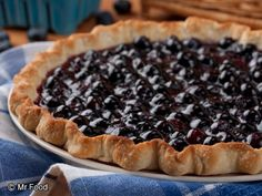 Awesome Blueberry Pie - Celebrate summer with an easy dessert recipe that's bursting with blueberries. We guarantee Grandma would approve of this sweet treat! no bake pies, dessert recipes, food, pie recipes, easi blueberri, awesom blueberri, blueberri pie