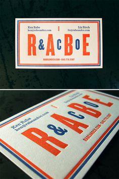 Super cool letterpressed business cards