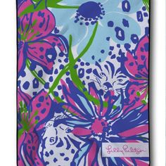 New Lilly Pulitzer Custom Tiger And Flower Pattern Design Blanket