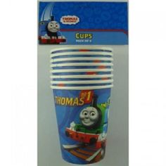 8 x Thomas the Tank Engine and Friends Cups Boys Birthday Party Supplies