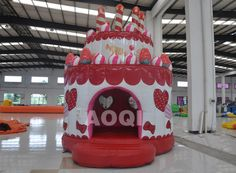 inflatable Birthday cake bouncer, inflatable jumper, inflatable bounce houses