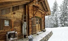 Not sure where this is, but isn't it lovely and charming? Sign me up! Chalet Petite Marmotte - dream ski trip