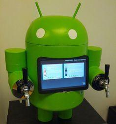 máquina de cerveja android, para geeks de plantão (android beer dispenser) - preciso de um desses em casa