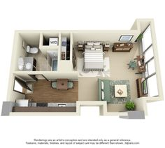 Image result for micro living studio layout