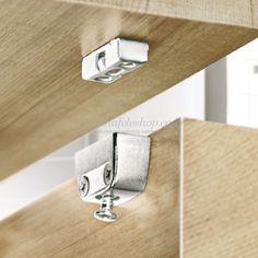 RV RTA connector, RV/O top element, with clip facility Decorating Bathroom Shelves, Decorating Bookshelves, Shelves In Bedroom, Wood Shelves, Display Shelves, Furniture Hardware, Furniture Design, Kitchen Measurements, Wood Joints