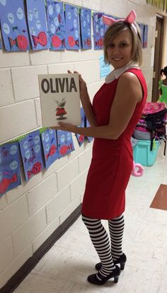 Olivia the Pig.book character dress up day. Olivia the Pig.book character dress up day. Book Characters Dress Up, Character Dress Up, Book Character Costumes, Literary Characters, Storybook Characters, Book Costumes, Book Week Costume, Diy Halloween Costumes, Costume Ideas