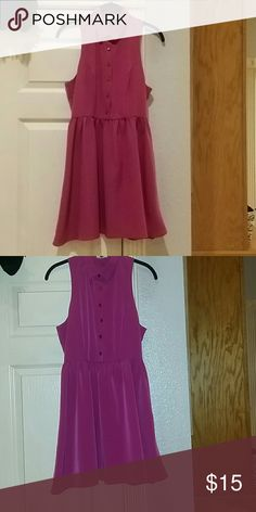 Plum Collared Summer Dress Size Small. Light fabric. Collared. one clothing Dresses Mini