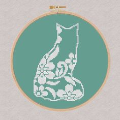 Modern cross stitch pattern Cat ✽ ✽ ✽ You can always find and download them here: You> Purchases and reviews  ✽ PATTERN DETAILS ✽ PDF Pattern Grid Size: 57 X 89 Stitches Fabric: Aida 14, Any fabric you like Floss: DMC (1 colors) Size: 10,34 x 16,15 cm / 4.21 x 6.50 inch (14 count)  This pattern is in PDF JPEG format and consists of an example photo, a floss list DMC and a color symbol chart. You can see a small sample of the color symbol chart at the last photo. Pattern in Color Symbo...
